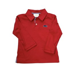 Zuccini Vintage Car Polo Shirt Knit Red