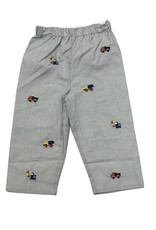 Zuccini Construction Pant Mini Gingham Gray