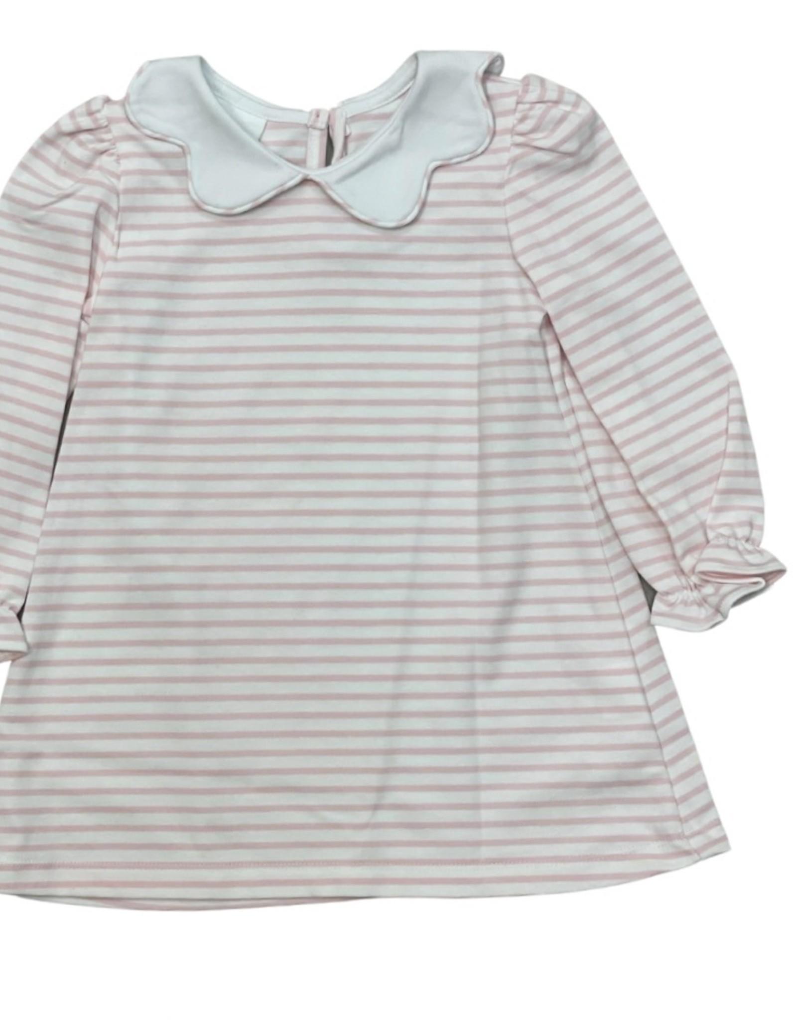 Zuccini Bryar Dress Light Pink Stripe