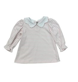 Zuccini Bryar Blouse Knit Pink Stripe