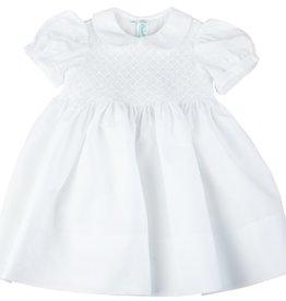 Feltman Brothers White Diamond Smocked Dress