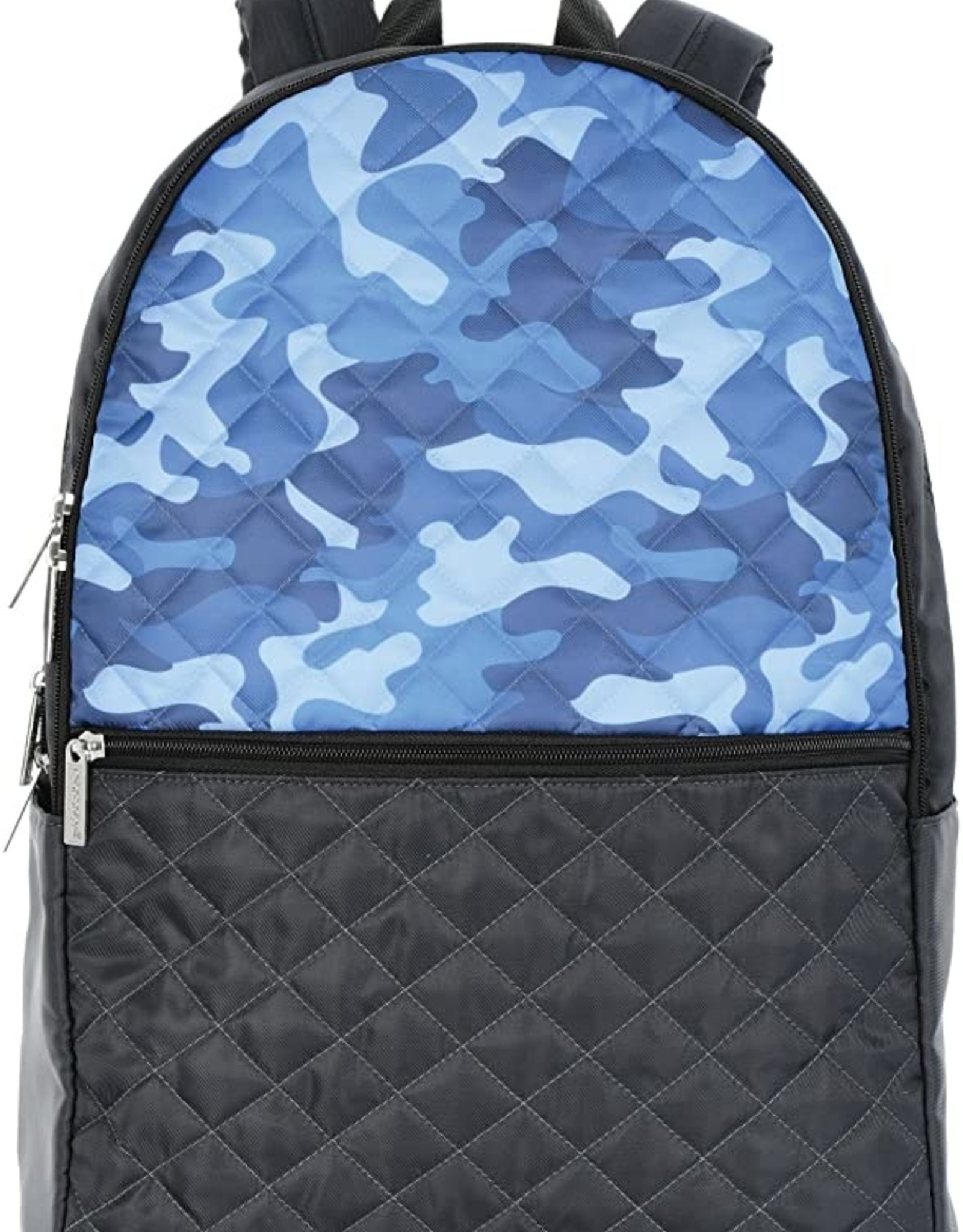 Iscream Blue Camo Quilted Backpack
