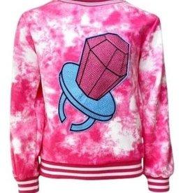Lola and the Boys Ring Pop Tie Die Sweatshirt