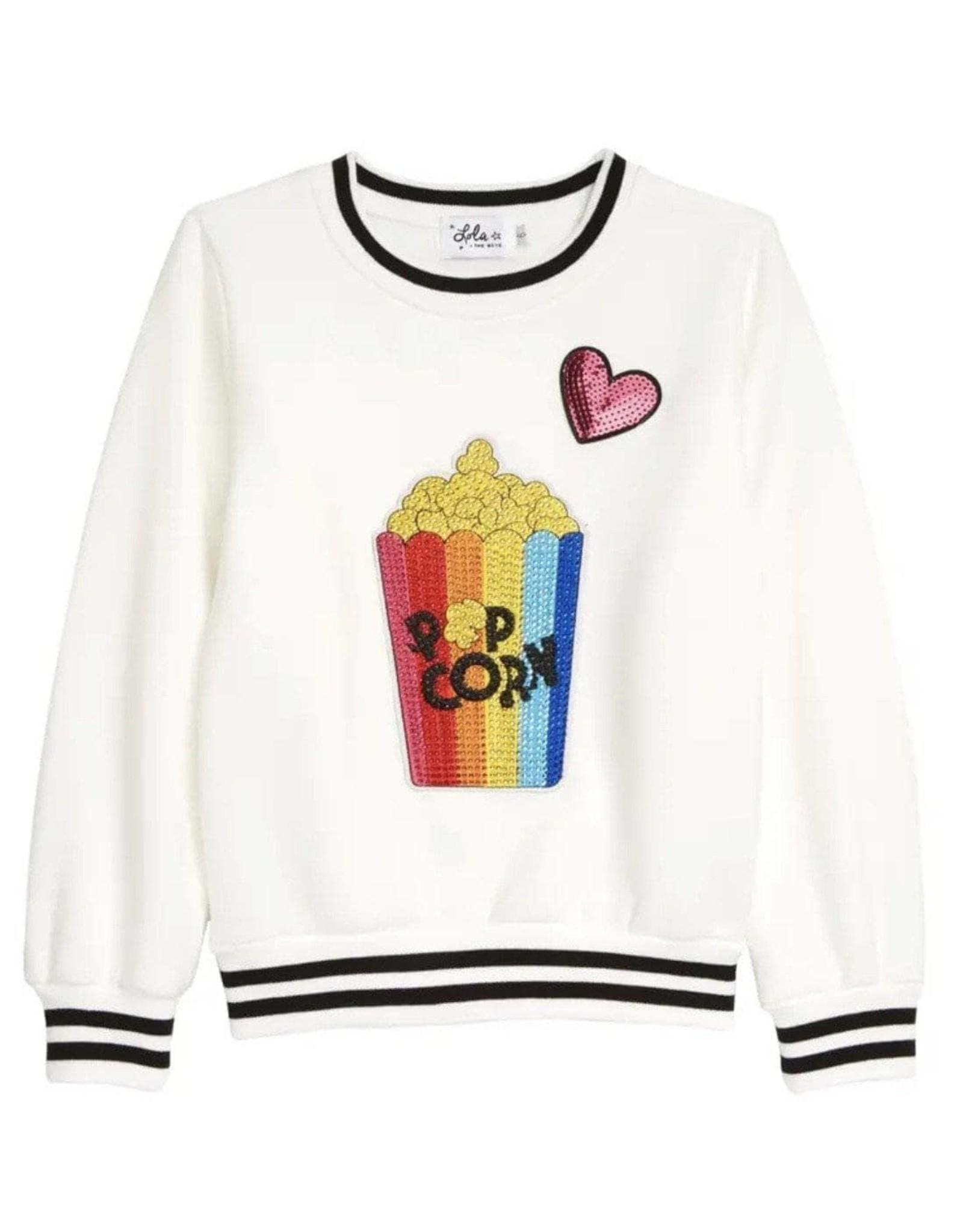 Lola and the Boys I Love Popcorn Sequin Sweatshirt