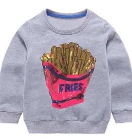 Lola and the Boys Sequin Fries Sweatshirt