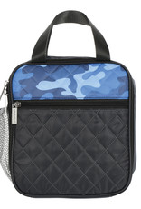 Iscream Blue Camo Quilted Lunchbox