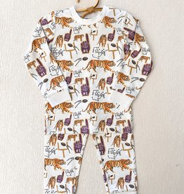 Velvet Fawn Tiger Baby Two Piece Jammies
