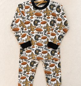 Velvet Fawn Who Dat Baby Two Piece Jammies