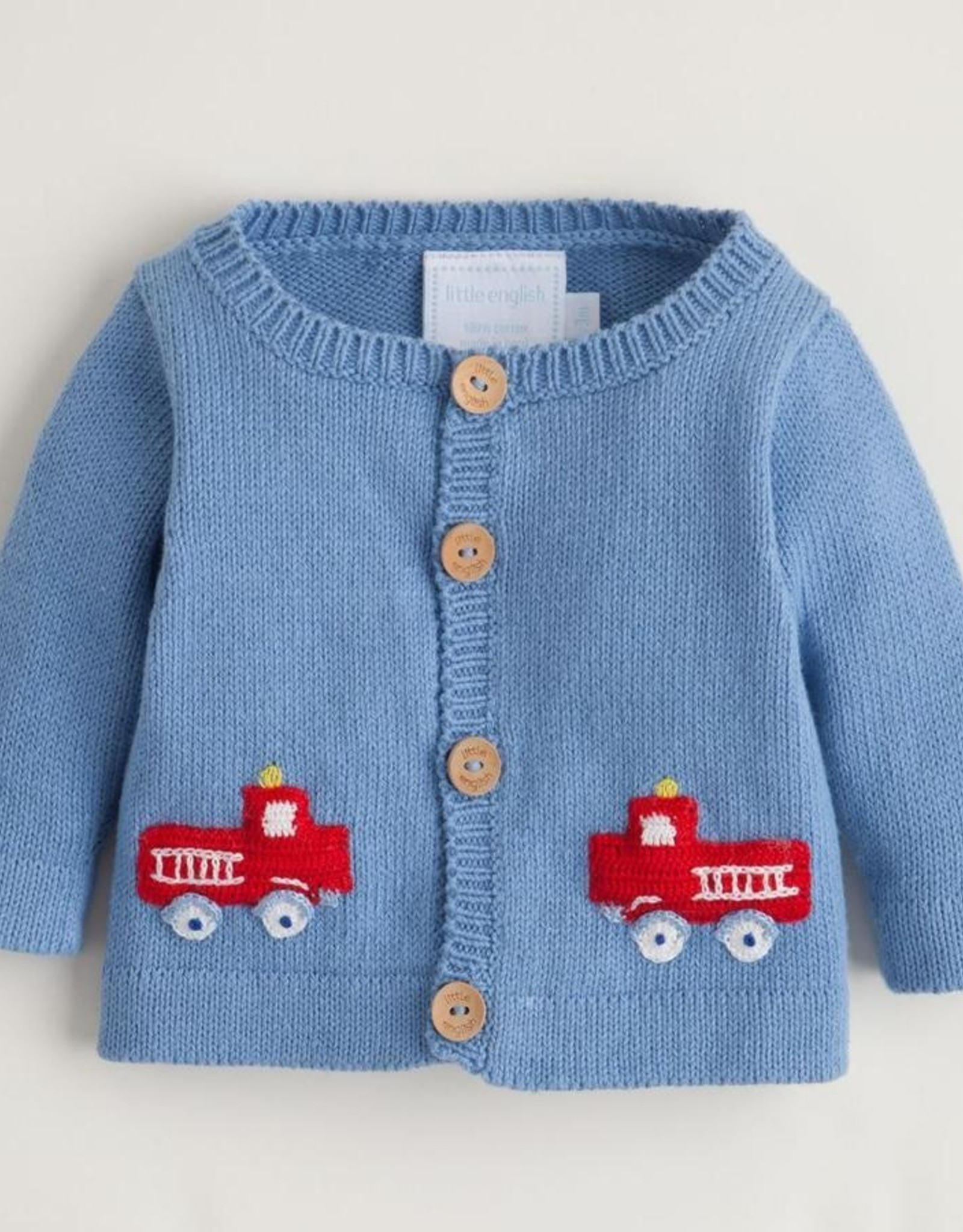 Little English Fire Truck Crochet Sweater