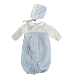 Petit Ami Converter Gown with Car Embroidery, Premie