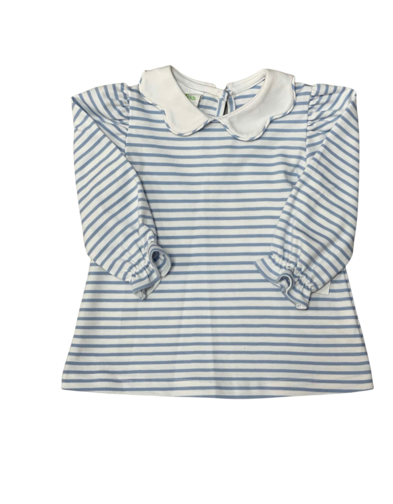 Zuccini Bryar Blouse Knit Cloud Stripe