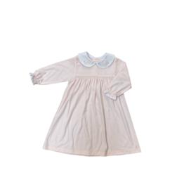 Auraluz Pink Knit Dress Tiny Bow