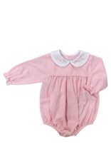 Auraluz Long Sleeve Bubble Pink Check With Flowers
