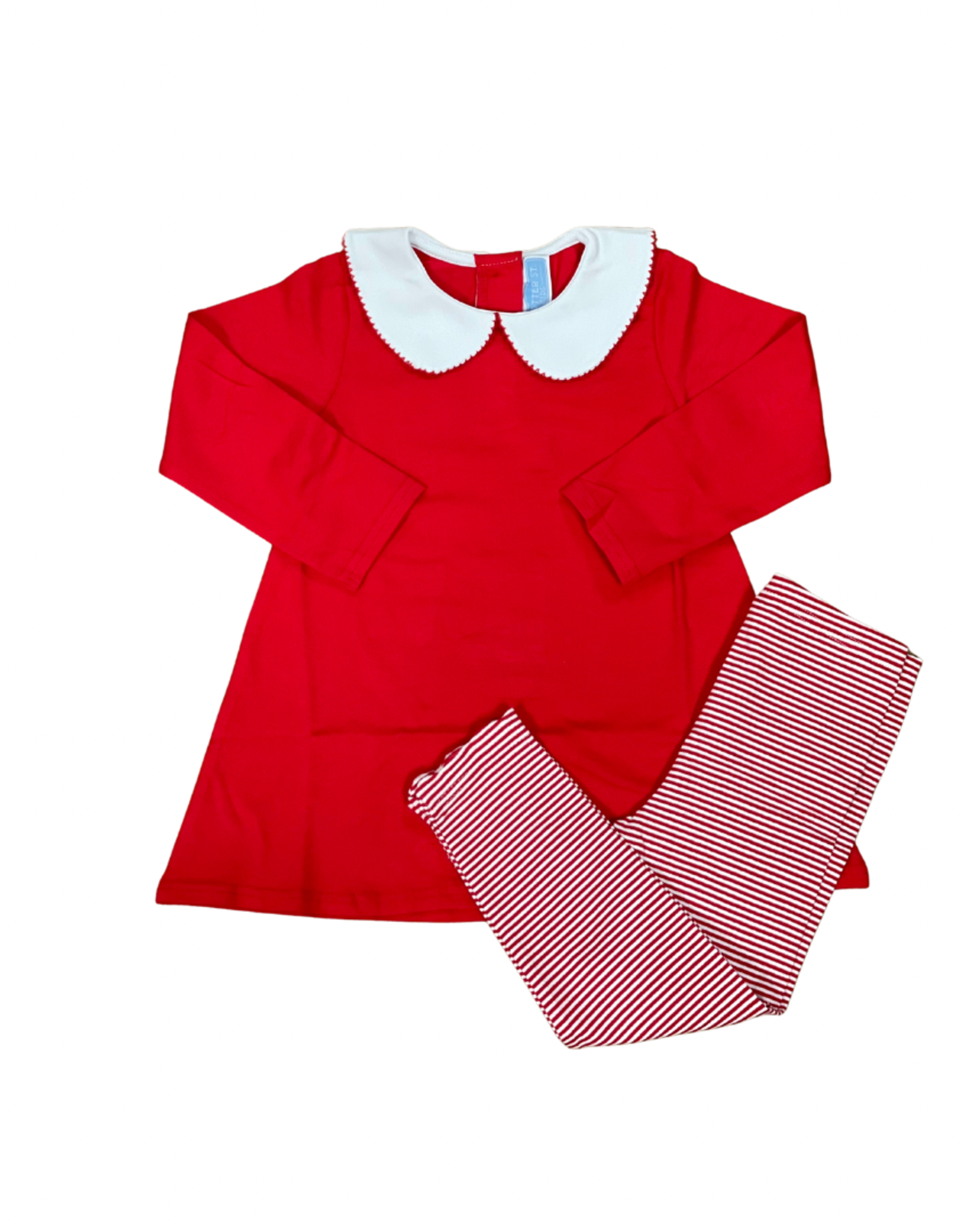 Trotter Street Kids Claire Long Sleeve Pant Set Red