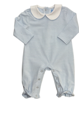 Trotter Street Kids Claire Long Sleeve Romper Light Blue Stripe