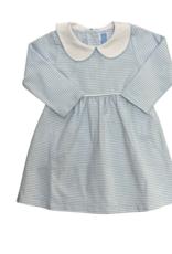 Trotter Street Kids Claire Long Sleeve Dress Light Blue Stripe