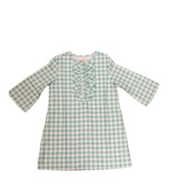 Peggy Green Pippa Dress Sage Gingham