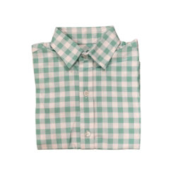 Peggy Green Long Sleeve Button Down Sage Gingham