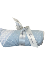 Magnolia Baby Layla & Lennox Smocked Receiving Blanket, Light Blue