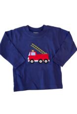 Luigi Long Sleeve Dark Royal Tee Fire Truck Ladder