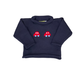 Luigi Roll Neck Sweater Two Crochet Cars Twilight