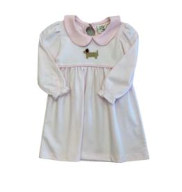 Luigi Long Sleeve Stiped Dress LP/White Crochet Puppy