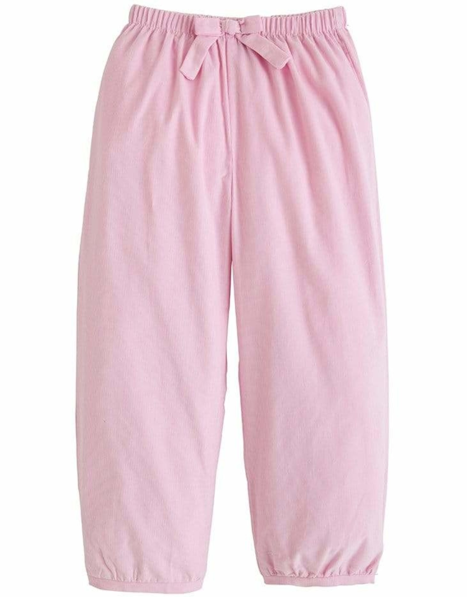 Little English Banded Bow Pants Light Pink