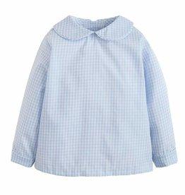 Little English Peter Pan Shirt Light Blue Gingham