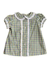 Anvy Kids Mardi Gras Plaid Shirley Dress