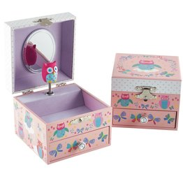 Floss & Rock Owl And Butterfly Musical Jewelry Box