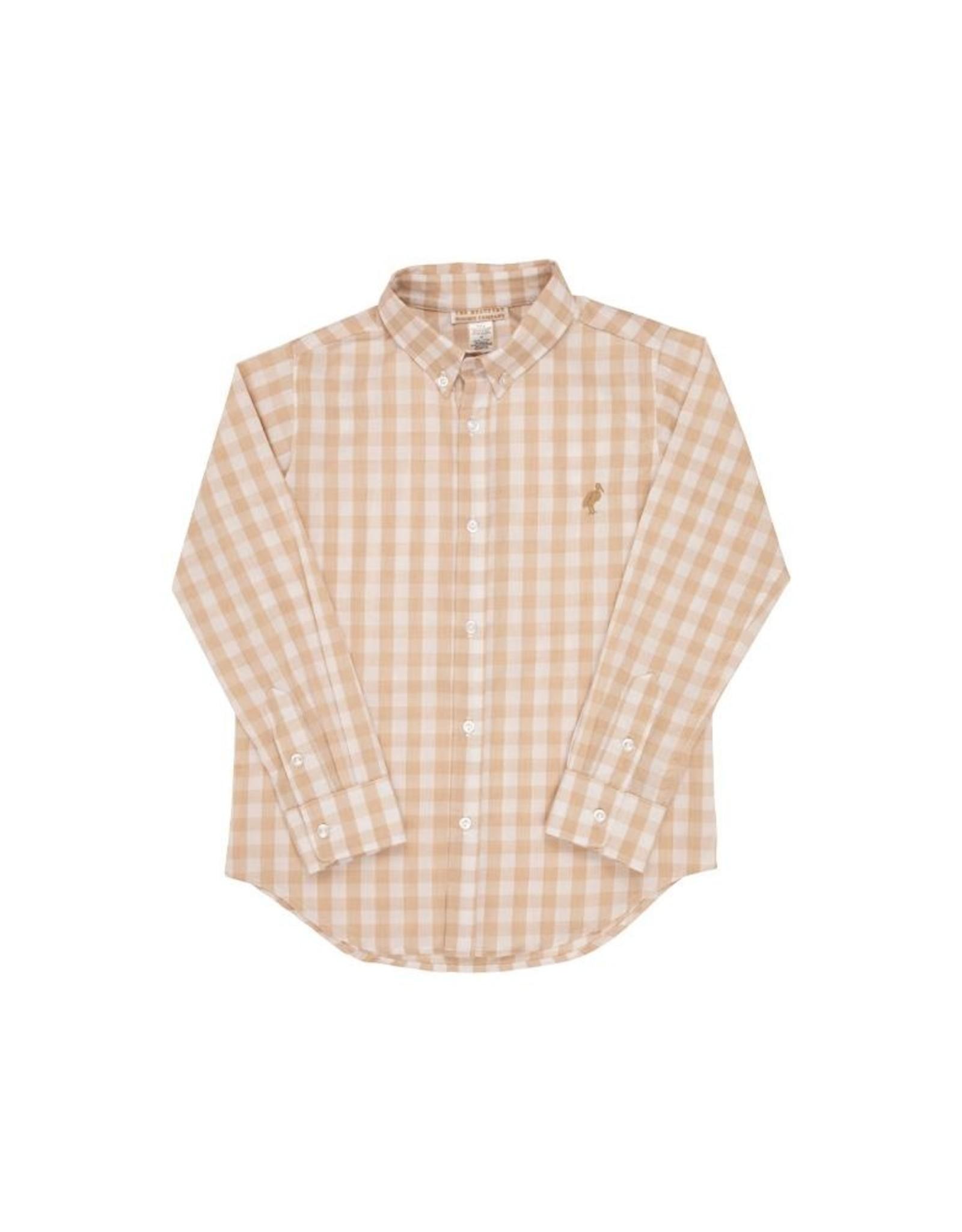 The Beaufort Bonnet Company Deans List Dress Shirt, Keeneland Khaki Check