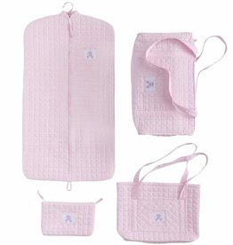 Little English Quilted Luggage - Ballet Slipper