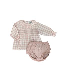Babidu Two Piece Pink Gingham Set 41354