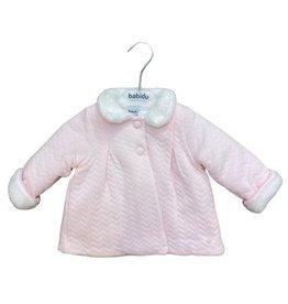 Babidu Zig Zag Coat Pink 31555