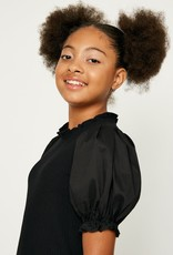 Hayden Los Angeles Black Puff Sleeve Top