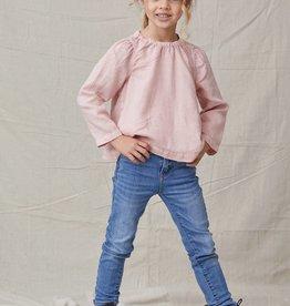 Bella Dahl Girl Fall Rose Puff Sleeve Top