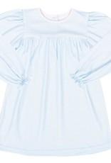 LullabySet Mother May I Dress LS- Blue MG Knit