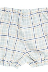 LullabySet Munro Bloomer Set - Blue/Khaki Plaid