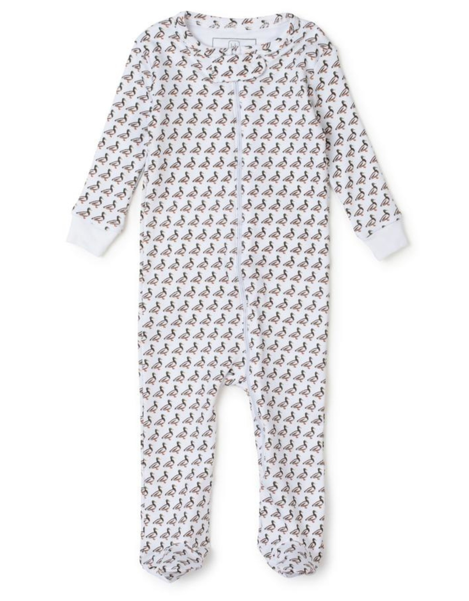Lila and Hayes Parker Zipper Pajama Mallard Duck