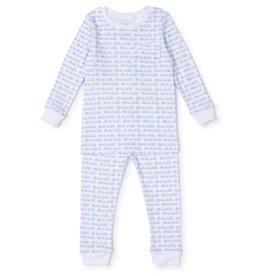 Lila and Hayes Bradford Pajama Set Choo Choo Blue