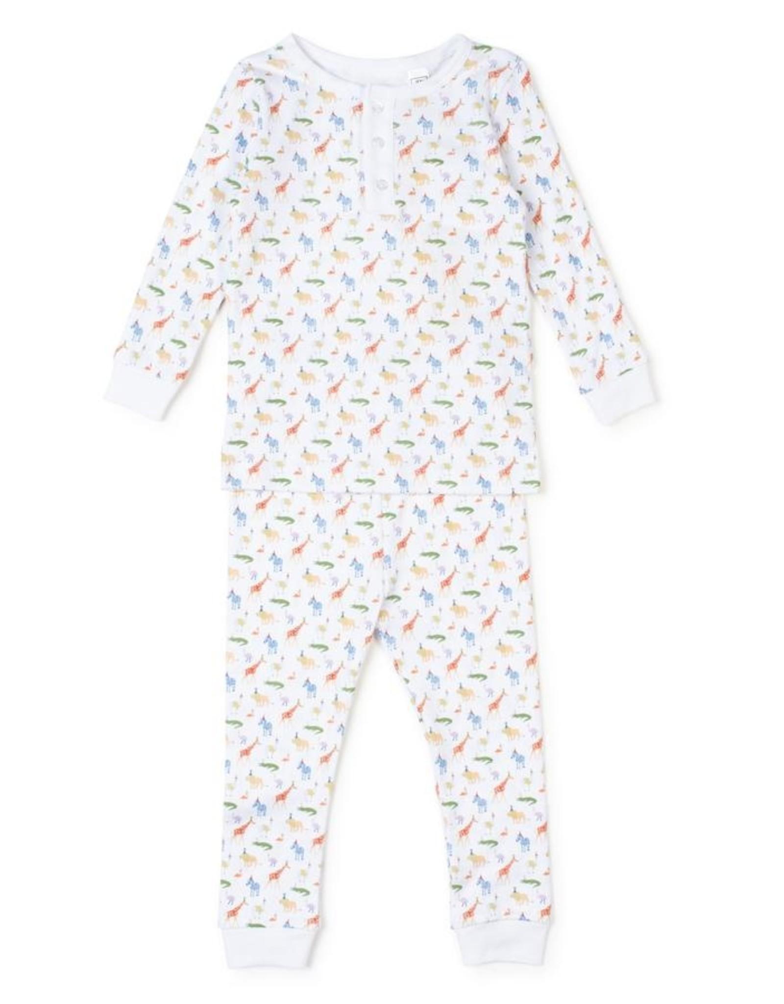 Lila and Hayes Jack Pajama Set Party Animals