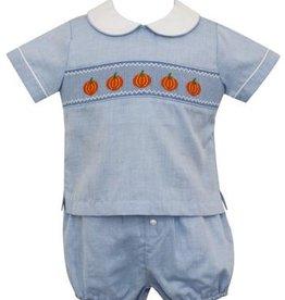 Anavini Pumpkin Diaper Set Light Blue Stripe
