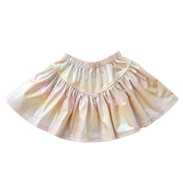 Pink Chicken Alexis Lame Skirt, Pearlized Metallic