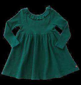 Pink Chicken Organic Princess Diana Dress in Evergreen