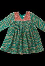Pink Chicken Courtney Dress in Green/Thrush Zebra