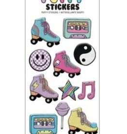 Iscream Let's Roll Puffy Stickers