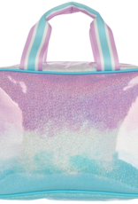 Iscream Ombre Sparkly Large Cosmetic Bag