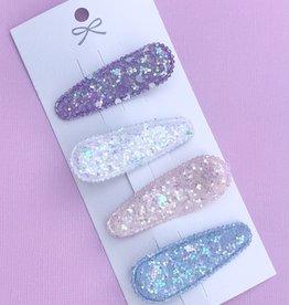 Lolo Headbands Set of 4 Pastel Glitter clips
