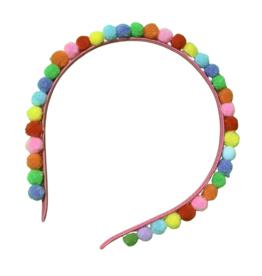 Lolo Headbands Pom Pom Headbands: Rainbow