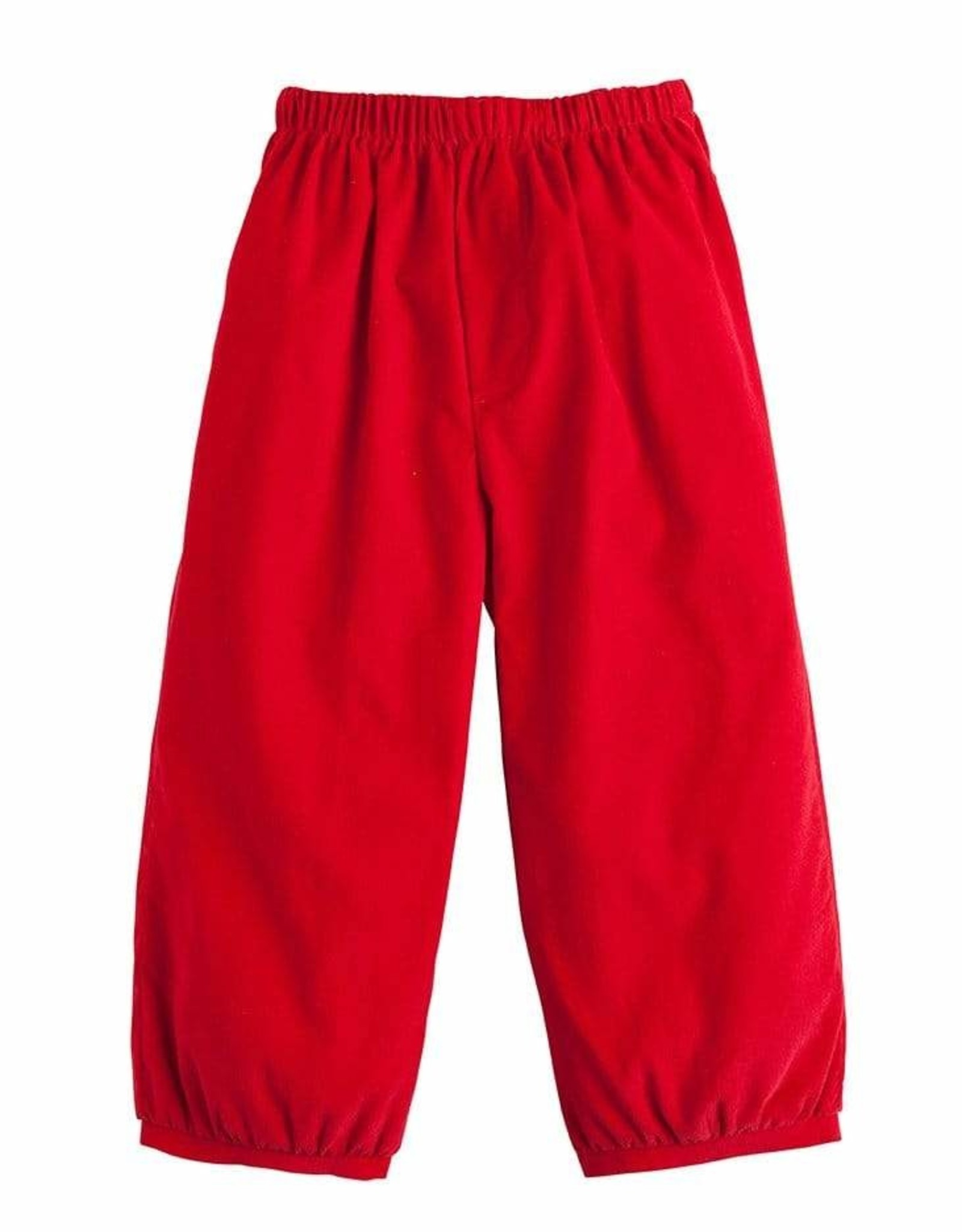 Little English Banded Pull On Pant - Red Corduroy